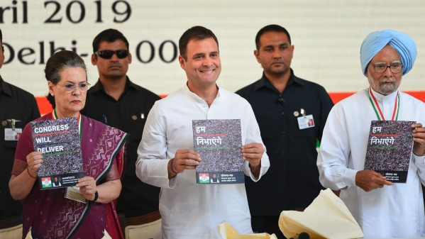 The Congress released its manifesto for the 2019 Lok Sabha polls on Tuesday, 2 April.