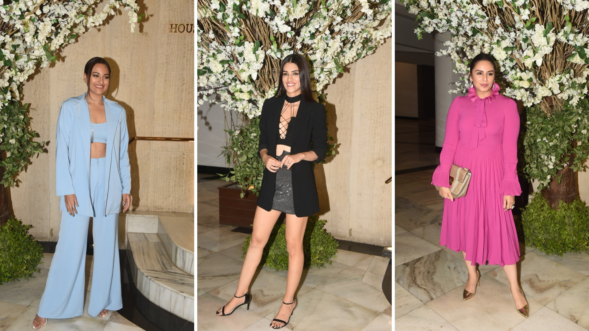 In Pics: Sonakshi, Kriti, Huma Dazzle at Manish Malhotra's Party