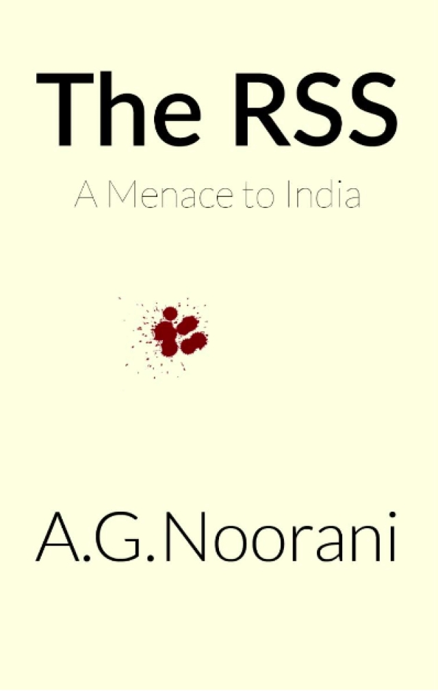 The cover of AG Noorani's book.