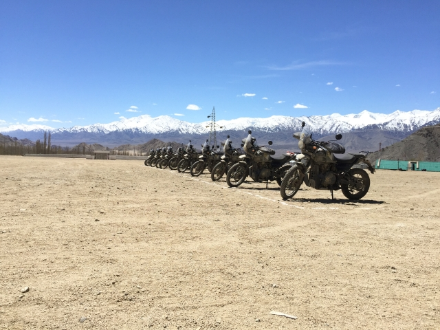The bikes after completing their most difficult journey.