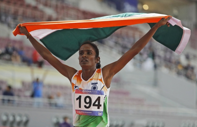 Gomathi used her energy conservatively through the 800m final to win gold in the Asian Athletics Championships.