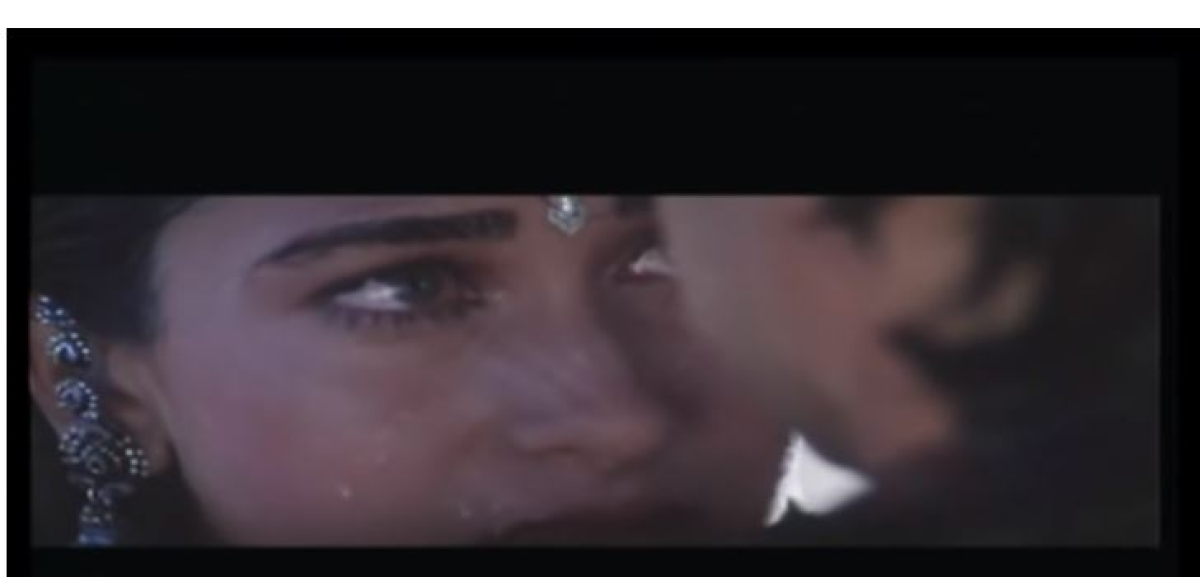 The kissing scene in Raja Hindustani
