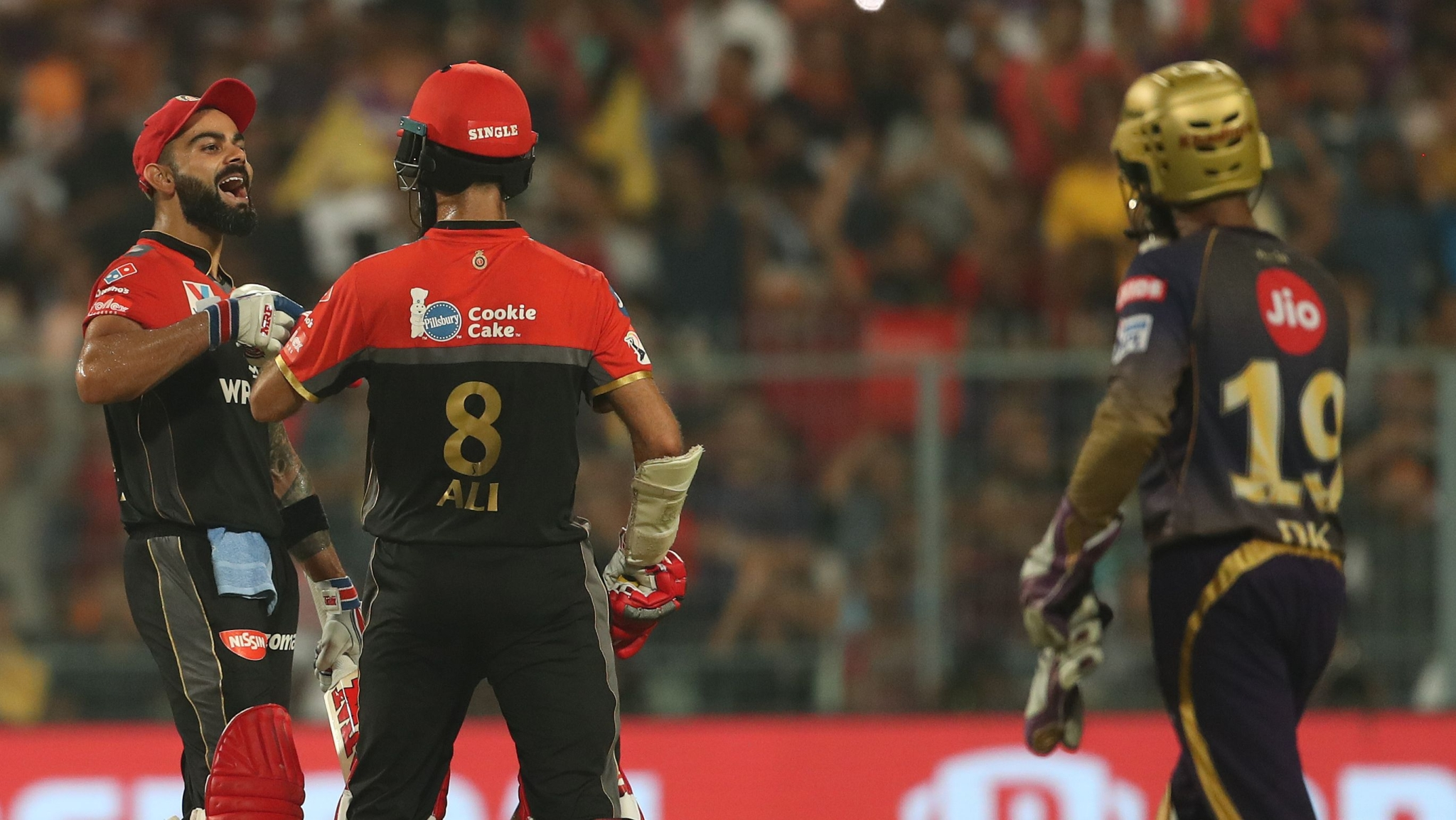 Skipper Kohli Slams a Century to Power RCB to 213/4 Against KKR