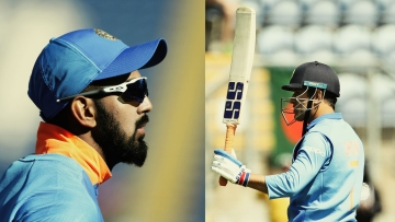 Inspired by the monumental effort of Rahul and Dhoni, India posted a massive total of 359-7 at the end of their innings.