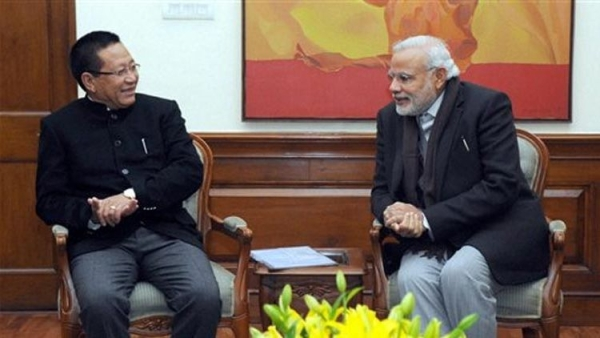 Nagaland chief minister Zeliang with Prime Minister Narendra Modi in February this year.
