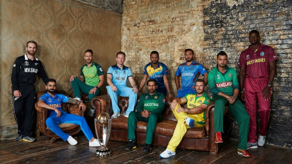 The 10 captains of the 2019 ICC World Cup pose for a picture after the first official joint press conference on 23 May, 2019.