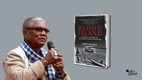 Image of Dalit author-activist Manoranjan Byapari, and the cover of author Deep Halder's book on the Marichjhapi massacre, used for representational purposes.