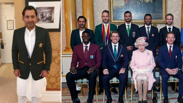 Nine out of ten captains were dressed in suits except the Pakistani skipper, Sarfaraz Ahmed.
