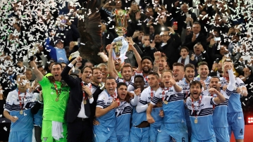 Sergej Milinkovic-Savic scored moments after coming off the bench to lead Lazio to a 2-0 win over Atalanta in the Italian Cup final.