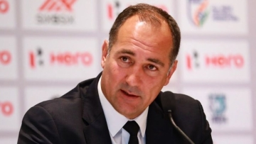 Igor Stimac during his first press conference in New Delhi on Friday, 24 May.