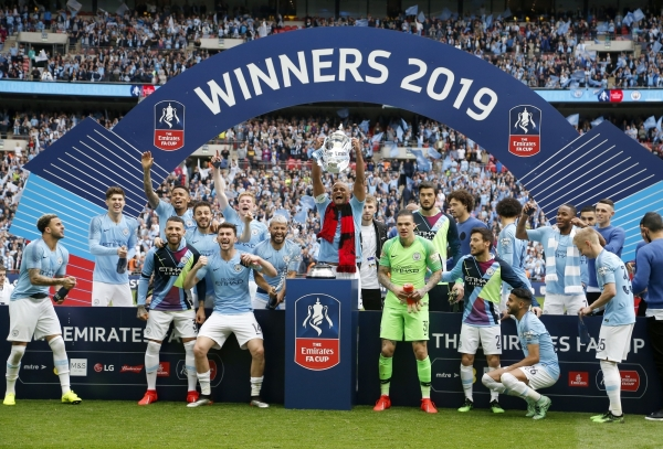 Manchester City handed Watford a 6-0 hiding in the FA Cup final to complete an unprecedented domestic treble.