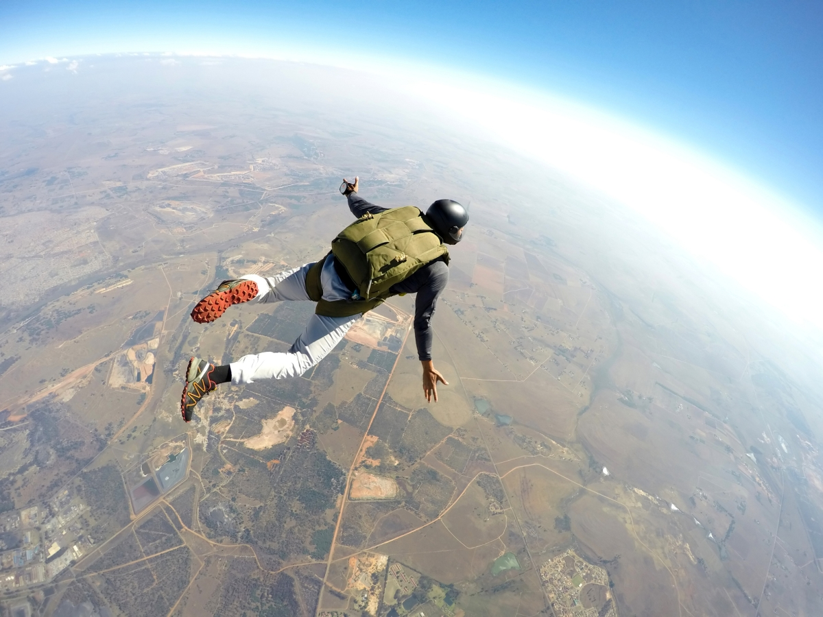 Just imagine the adrenaline rush as you free-fall when you jump off the plane
