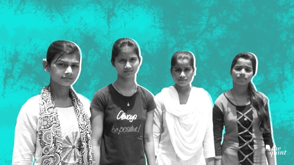 From left to right: Preeti Kumari, Baby, Gudiya Yadav and Ankita Yadav.