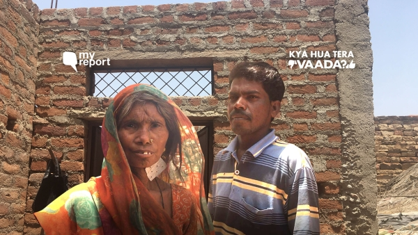 A year on, residents of Ghatigaon, in Gwalior, are still waiting for houses to be completed under the PM Awas Yojana.