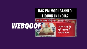A viral image on social media falsely claimed that PM Narendra Modi has banned liquor in India.