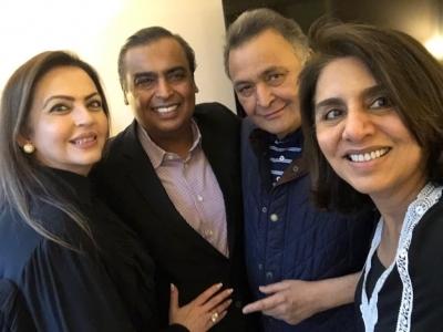 Mukesh, Nita Ambani shower love on Rishi Kapoor