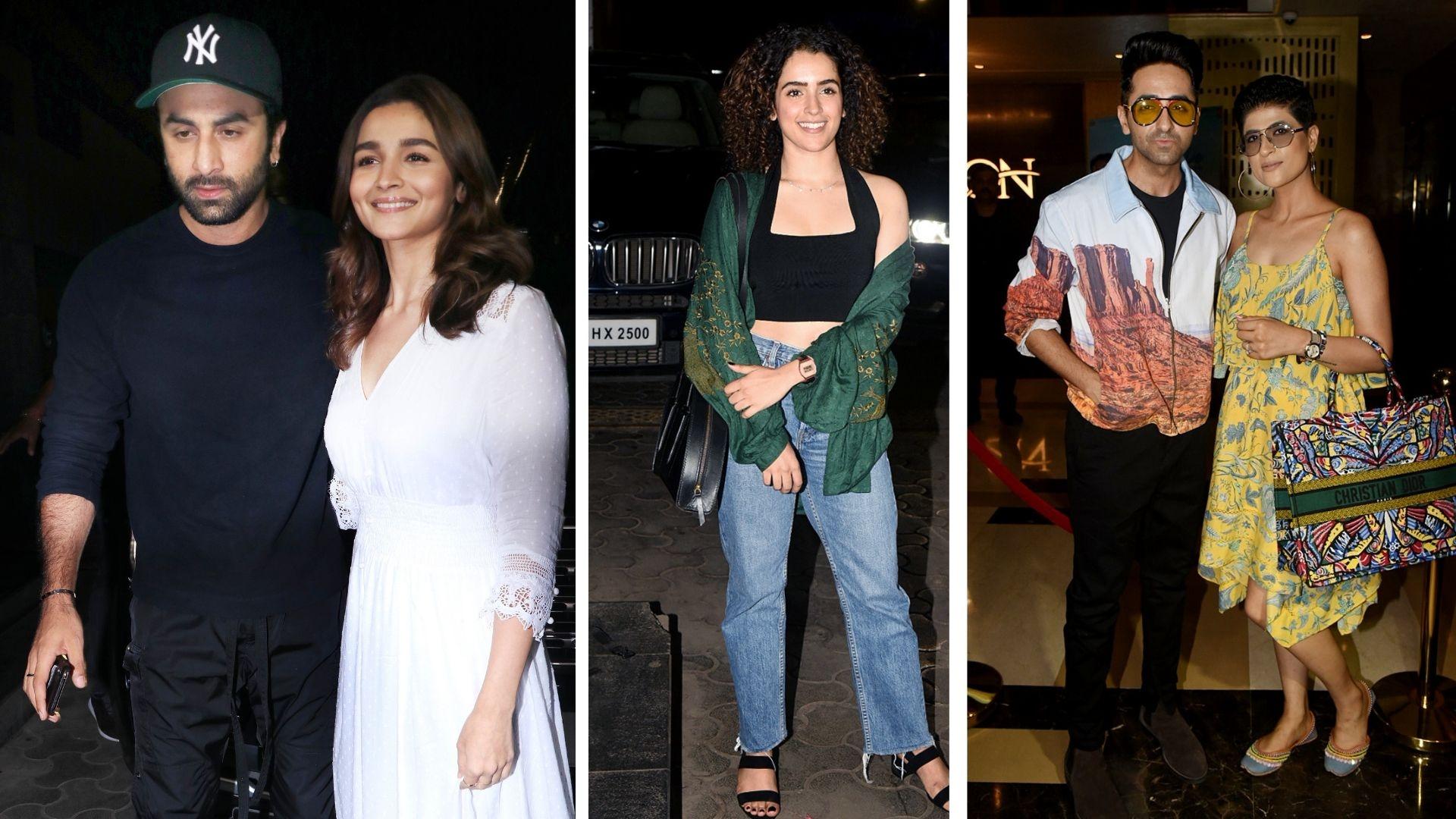In Pics: Ranbir, Alia, Ayushmann Attend 'De De Pyaar De' Screening