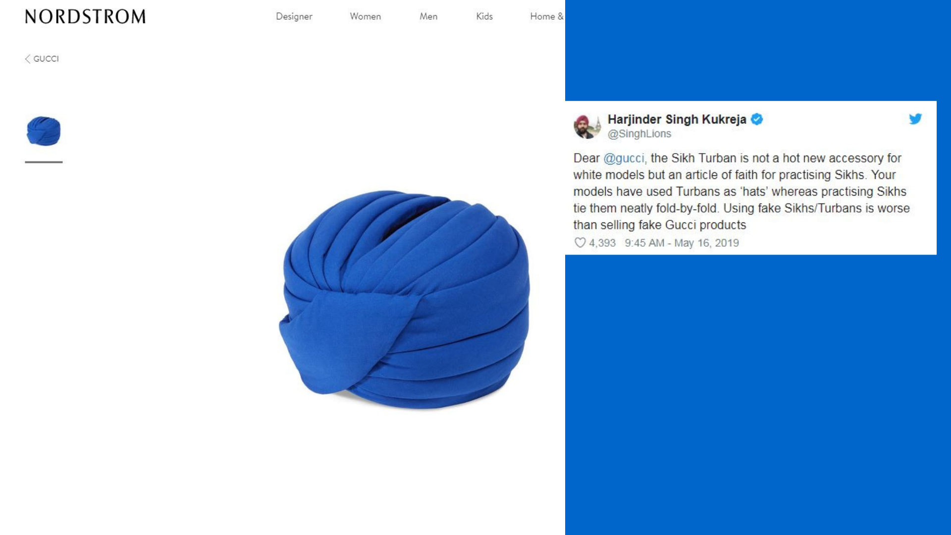 'Article of Faith': Gucci Slammed for Selling $800 'Indy' Turbans