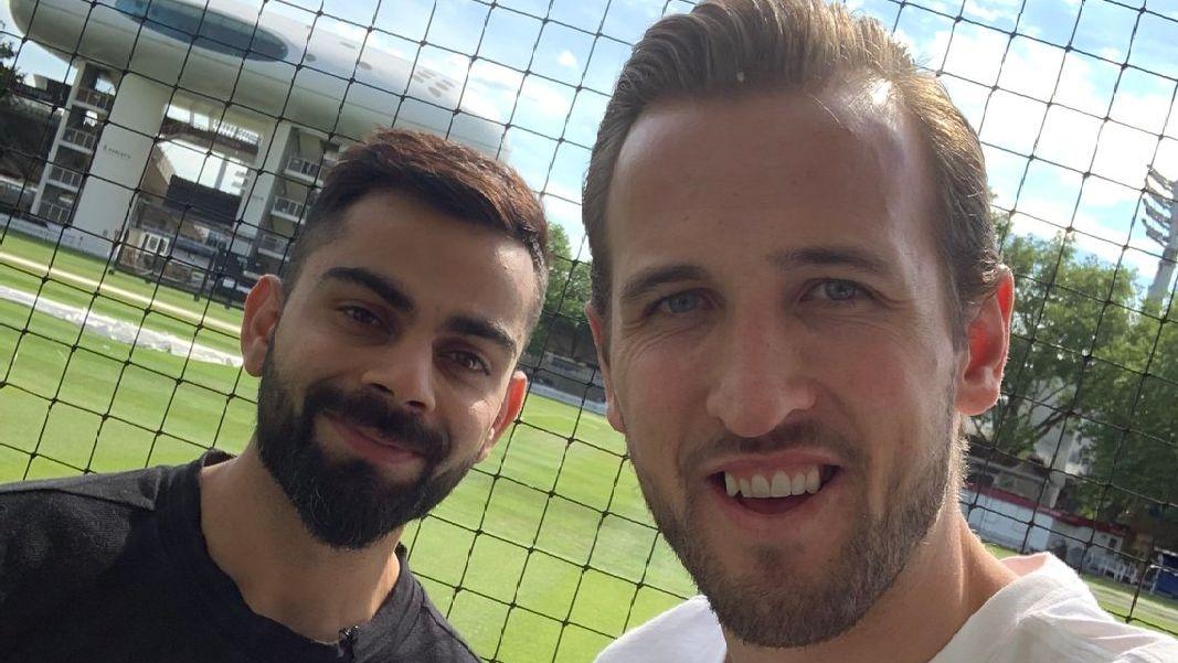 Harry Kane Finally Meets Virat Kohli at the Lord's