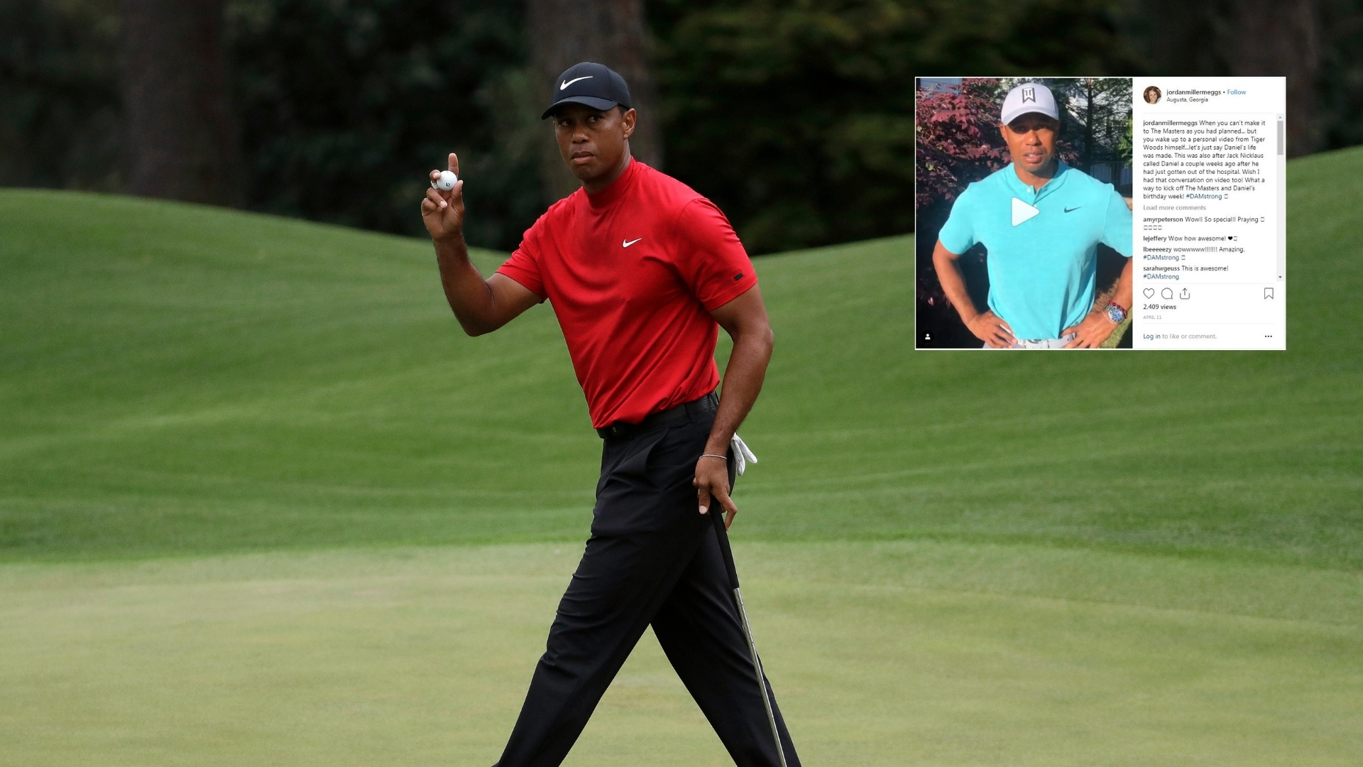 Stay Strong & Keep Fighting: Woods' Video for Cancer-Affected Fan