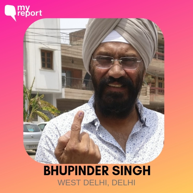 Bhupinder Singh shares his selfie with us.