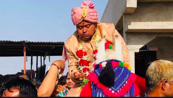 Ajay Barot during his wedding celebrations.