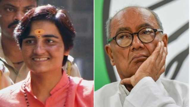 BJP's Pragya Thakur is locked in a fight with Congress' Digvijaya Singh in MP's Bhopal.