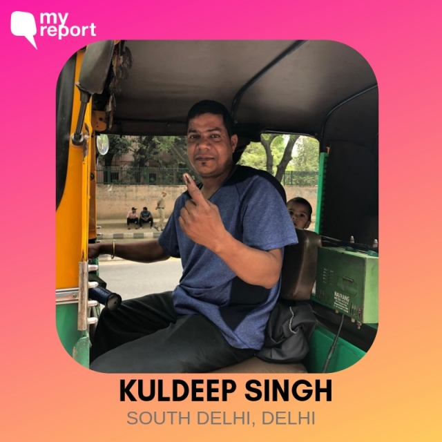 Kuldeep Singh smiles from his auto.