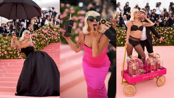Watch Lady Gaga Strip Down to 4 Outfits ON the MetGala Red Carpet
