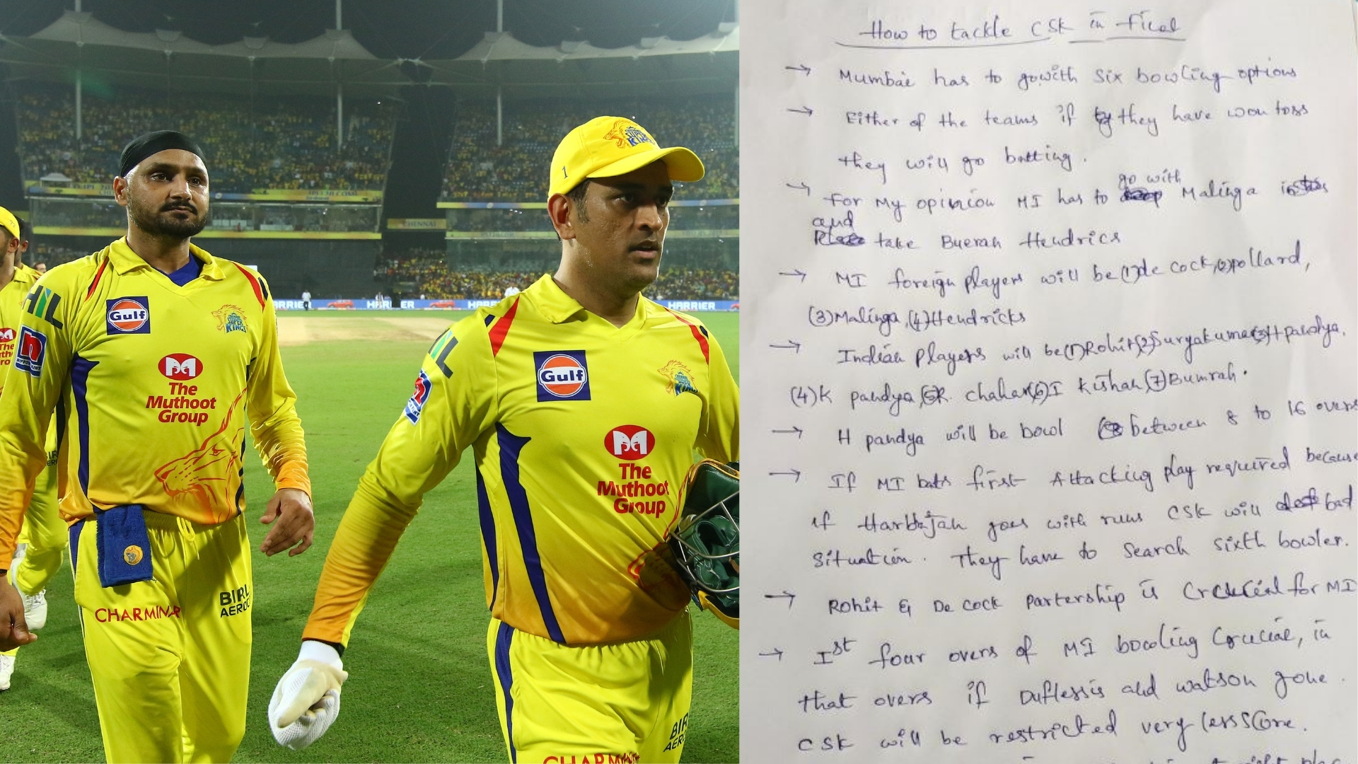 IPL 2019 Final, MI vs CSK: Fan Letter to Tackle Chennai Goes Viral