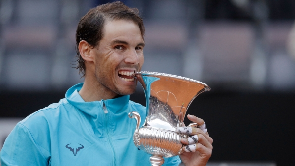 Nadal has now won nine trophies at the clay-court event in the Italian capital, a record in the history of the tournament.