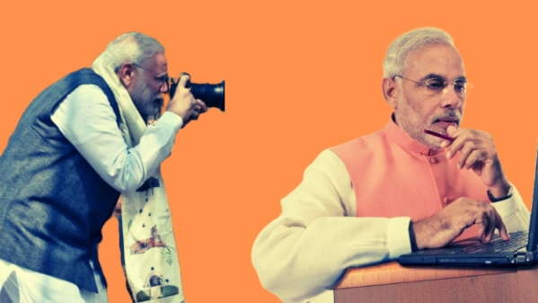 PM Modi claimed that he was one of the early adopters of email, and had used a digital camera as far back as 1988.