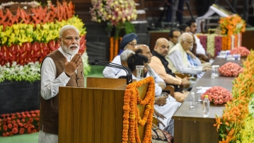Prime Minister-designate Narendra Modi on Saturday staked claim to form the government.
