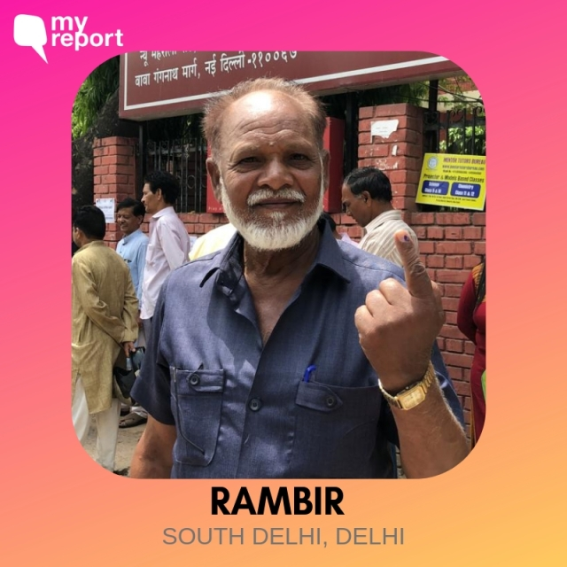 Rambir casted his vote from South Delhi.