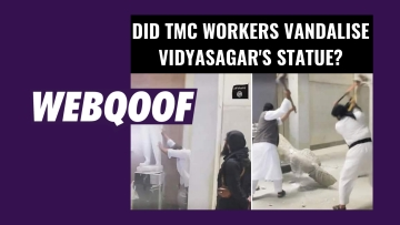 Viral images falsely claimed ISIS destroying artefacts in Iraq as TMC vandalising Vidyasagar's statue.