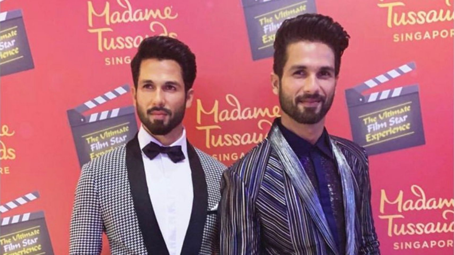Shahid Hangs out With His Madame Tussauds Statue in Singapore