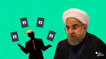 Image of Iran's President Hassan Rouhani, and an artistic impression of US President Trump, used for representational purposes.