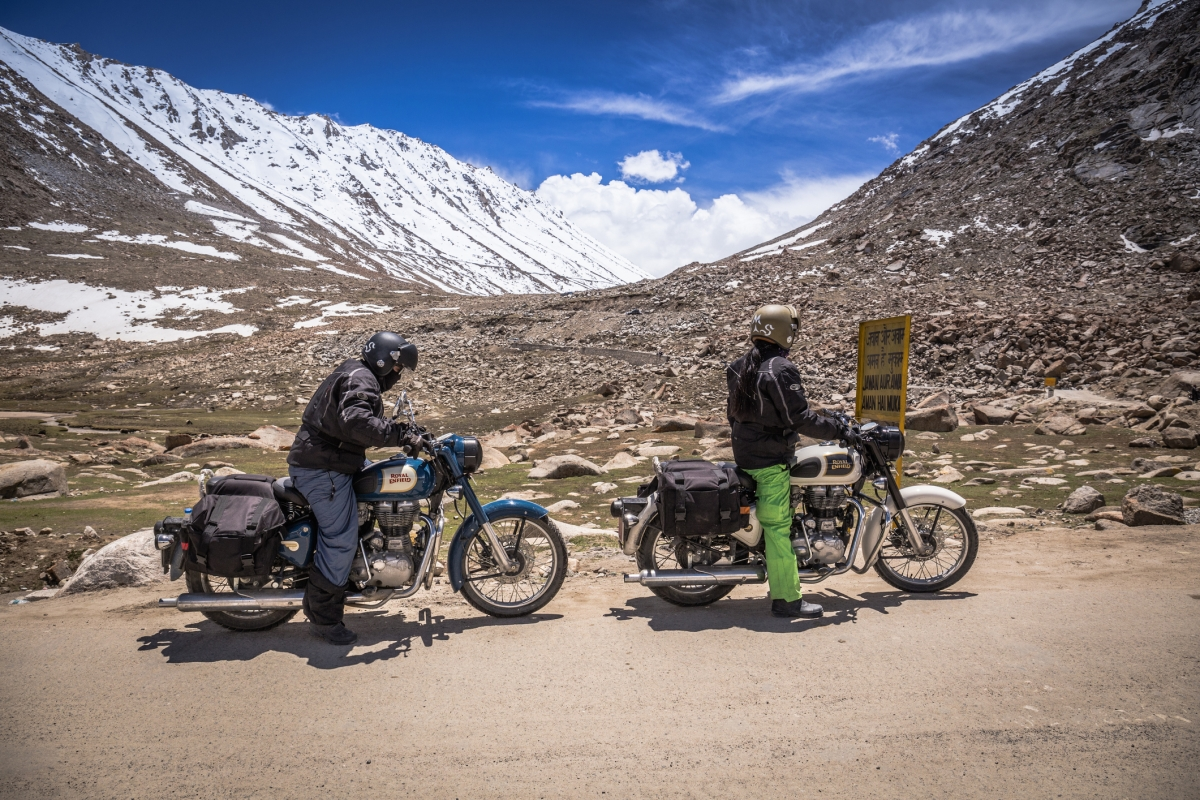 Khardung La pass is one of the highest motorable roads in the world