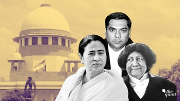 West Bengal Chief Minister Mamata Banerjee (L), Justice Sanjiv Khanna (C) and Justice Indira Banerjee (R).