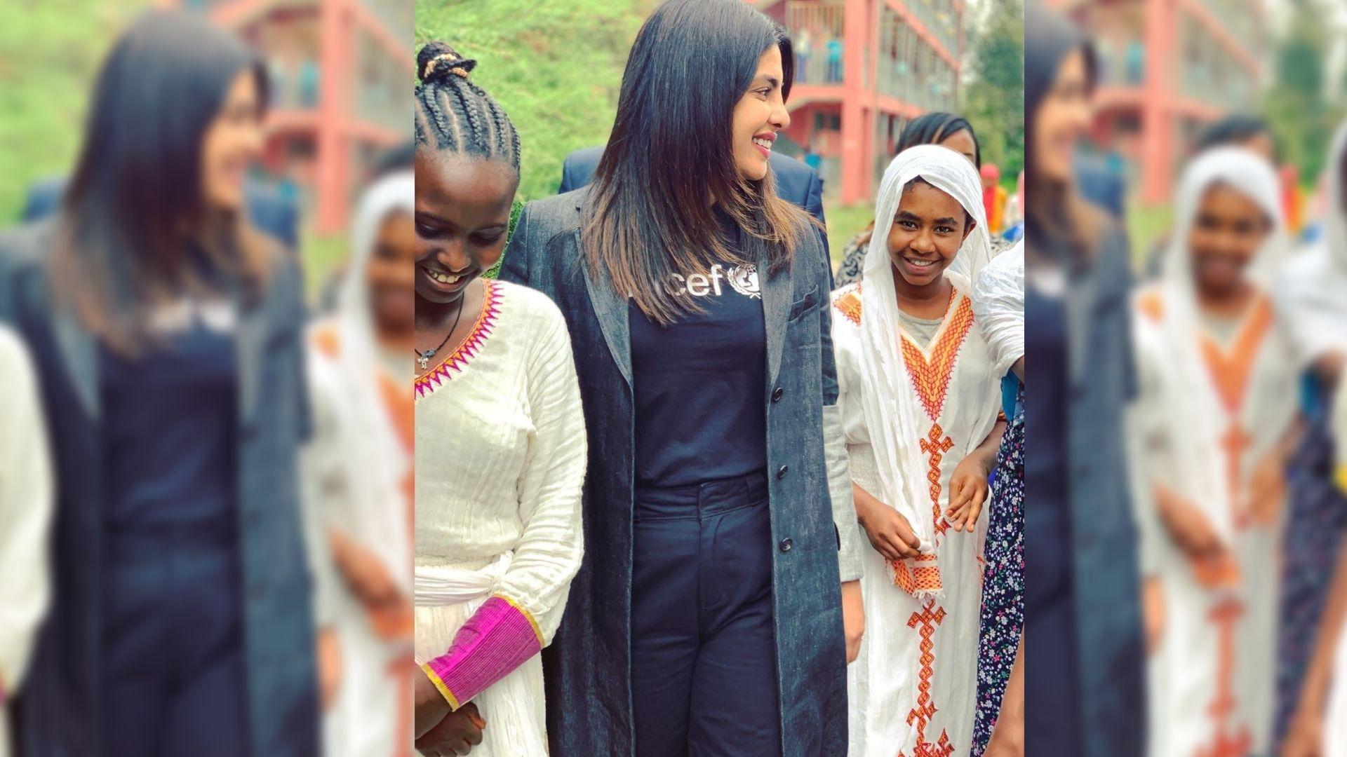 Priyanka Visits Ethiopia to Support Unicef Program for Children