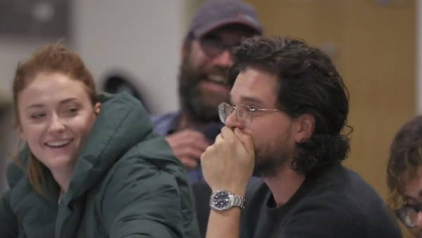 Kit Harington learning of Jon Snow and Daenery's fate in <i>Game of Thrones</i> documentary <i>The Last Watch</i>.