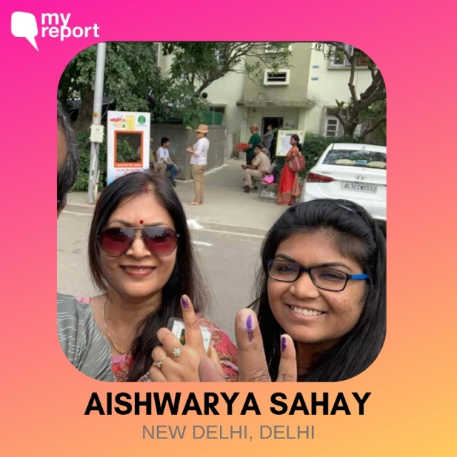 Aishwarya Sahay shares her selfie, taken with her mother.