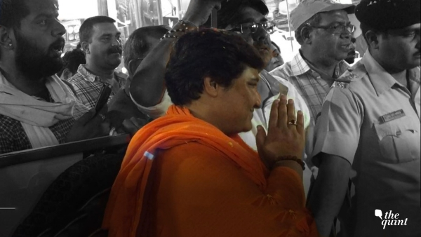 Pragya Singh Thakur avoided questions when The Quint's reporter went on a campaign trail with the firebrand leader.