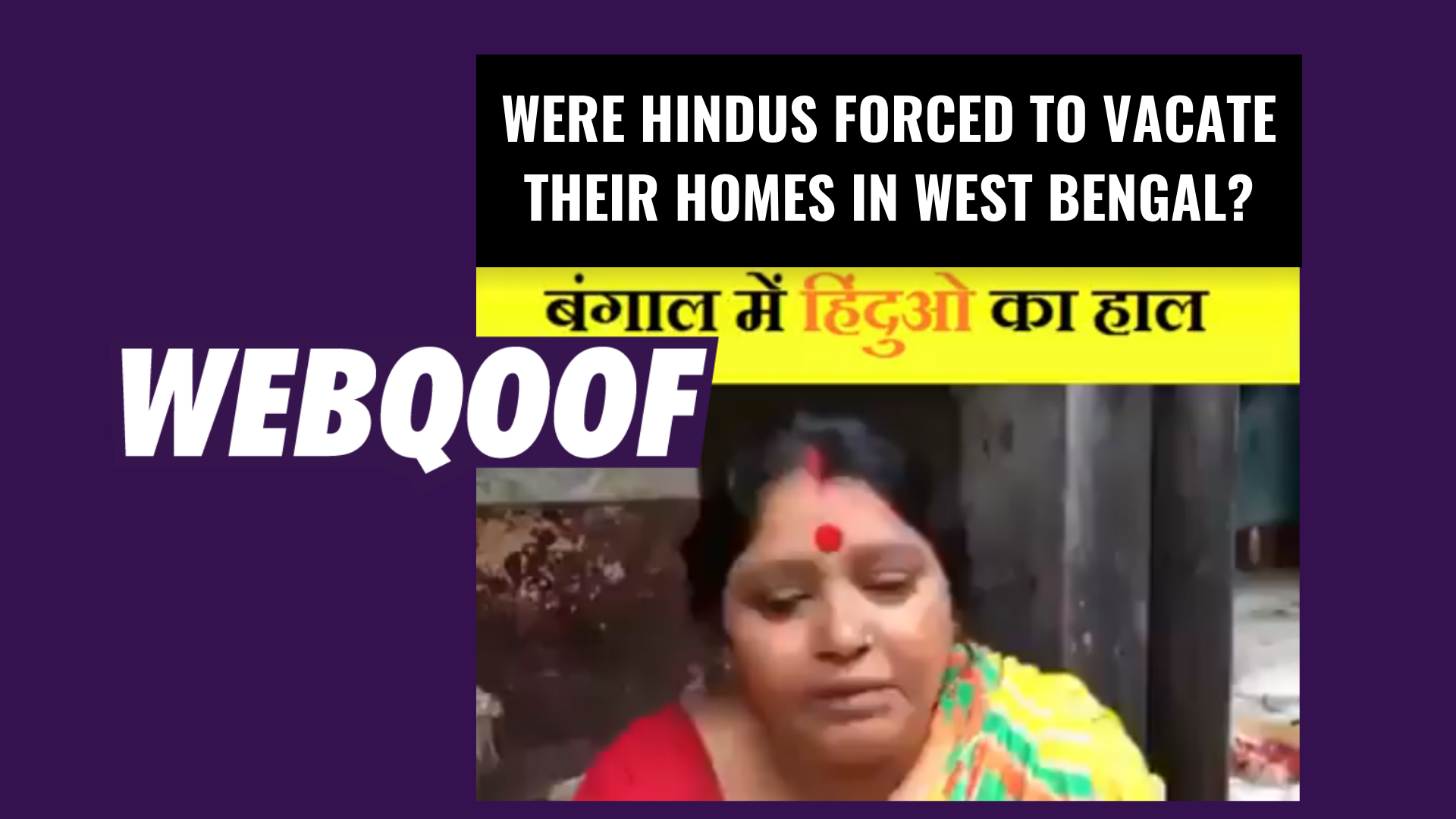 No, Bengali Hindus Aren't Fleeing Their Homes – It's an Old Video
