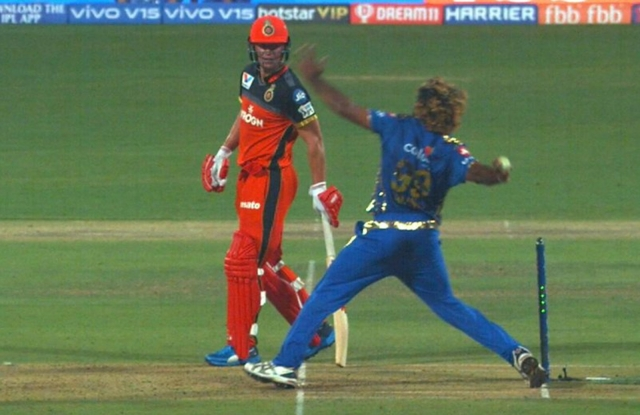 Malinga's no ball in a league stage game against RCB was completely missed by the umpires.