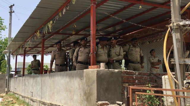 Heavy police presence was seen in Lhor village of Mehsana district after the upper caste Thakors boycotted the Dalits living in the village