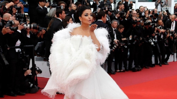 Aishwarya Rai Bachchan on the red carpet at Cannes 2019.