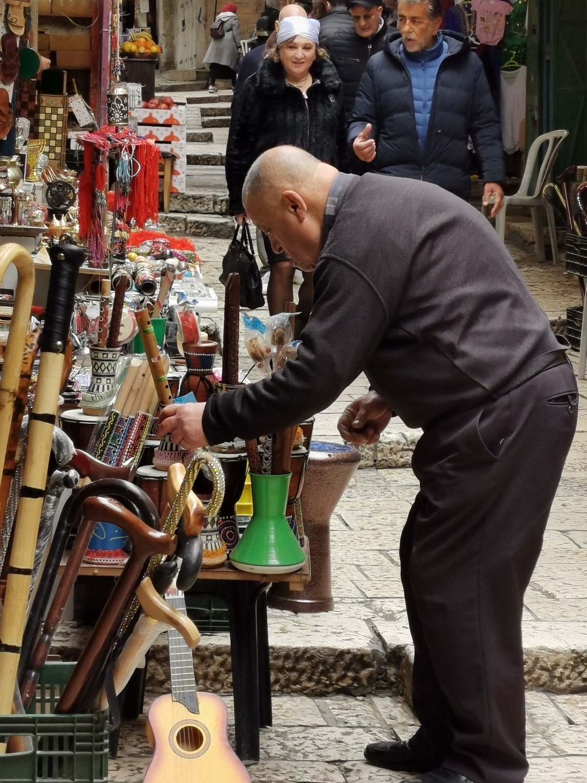 Old trader in one of Jerusalem's markets.