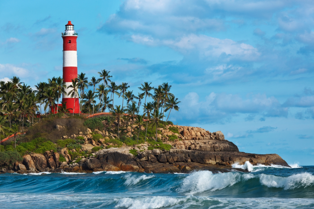 You can climb up the lighthouse at Kovalam beach and get a panoramic view of the Arabian Sea.