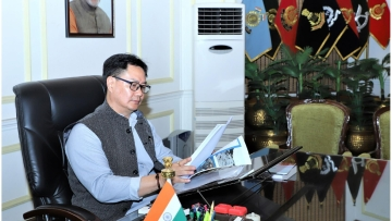 File picture of India's new Sports Minister Kiren Rijiju.